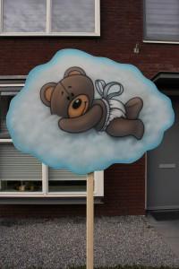 Geboortebord huren in Arnhem - Beertje