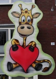 Geboortebord in Arnhem huren - giraffe
