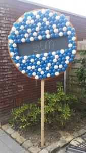 GeboortebordArnhem.nl - 3D beschuitbord met blauwe muisjes